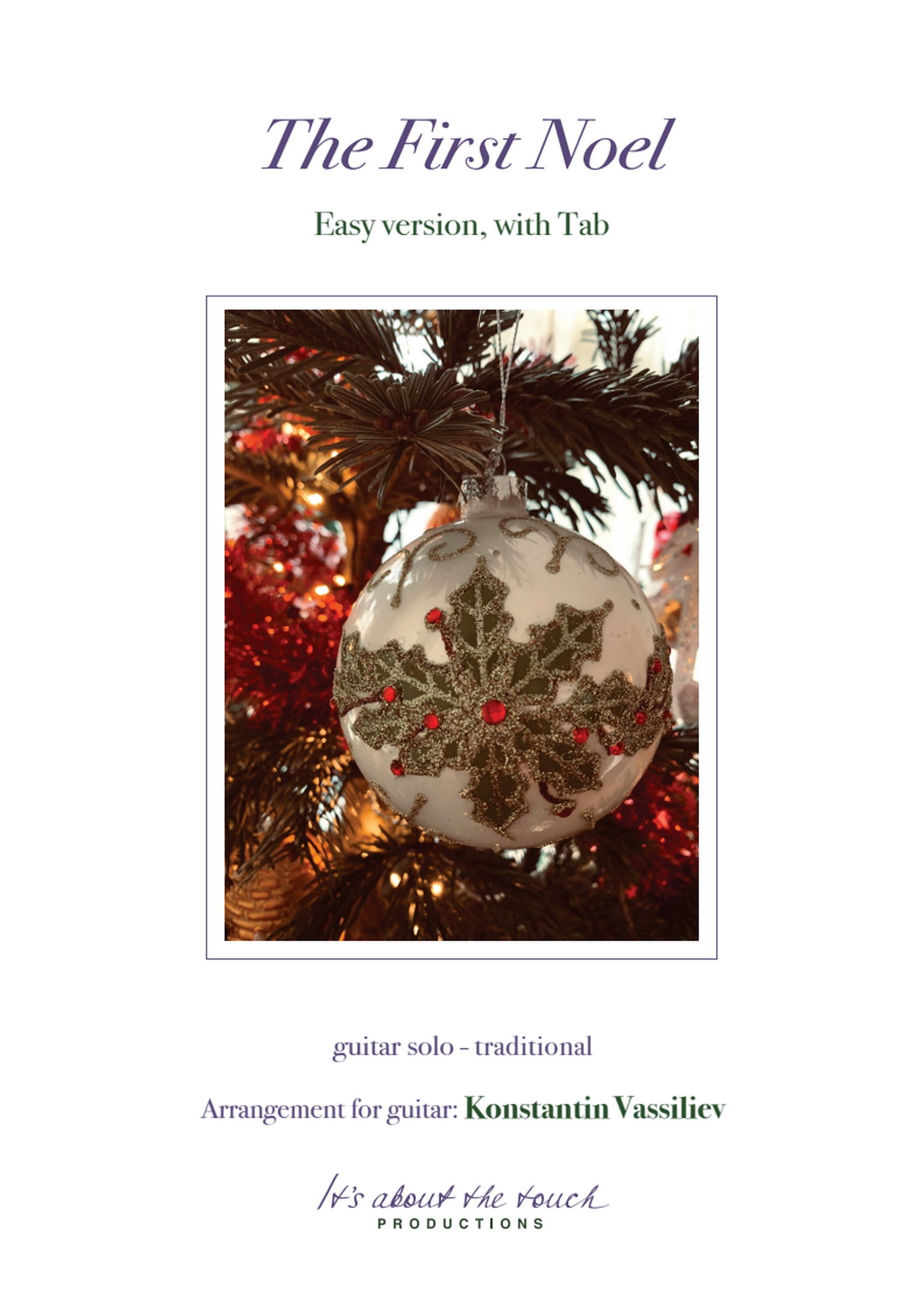 The First Noël - score with tab cover