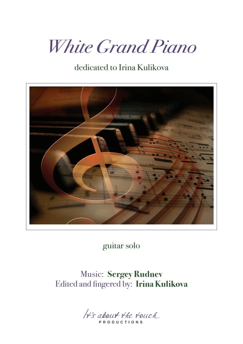 Sergey Rudnev - White Grand Piano - score cover